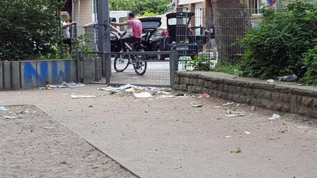 Regelmäßig schicken uns Leser/innen aus der Neckarstadt Bilder von verdreckten Kinderspielplätzen zu | Foto: Lesereinsendung