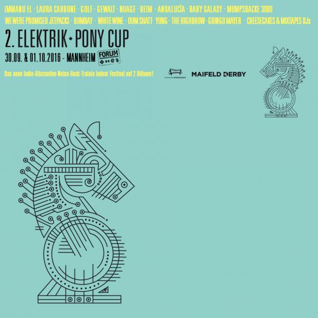 Das offizielle Plakat zum Mini-Festival ELEKTRIK PONY CUP