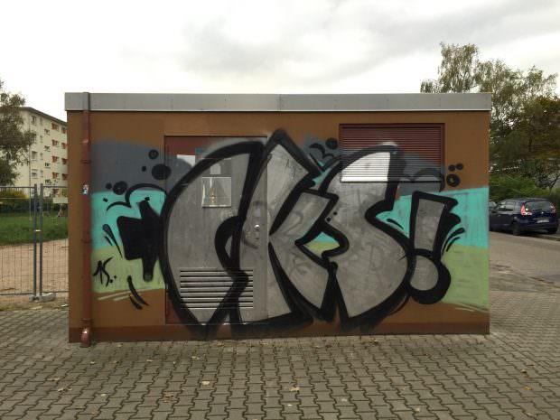 So kennt man die Trafostation in der Carl-Benz-Straße, Ecke Kinzigstraße. Auch sie dürfte bald dem GBG-Neubau weichen   Foto: Neckarstadtblog