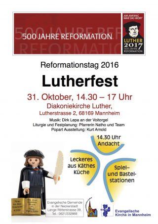 Das Plakat zum Lutherfest 2016