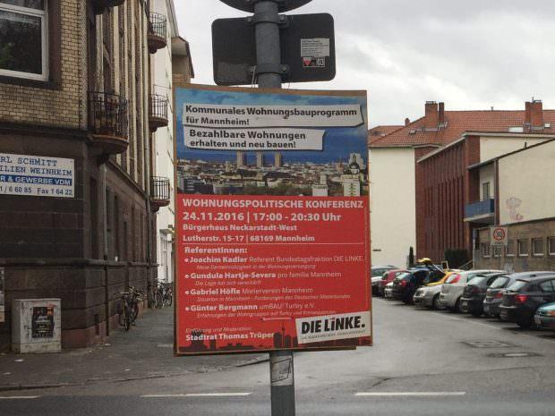 Werbeplakat für den wohnungspolitischen Konkress | Foto: Neckarstadtblog
