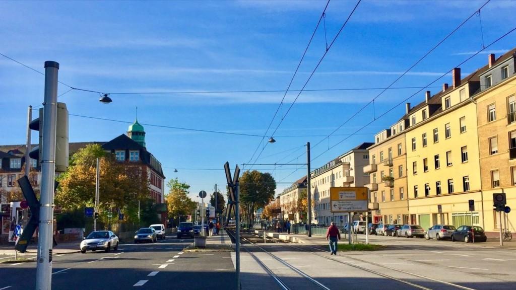 Die Straßenbahnhaltestelle Lange Rötterstraße | Foto: Neckarstadtblog