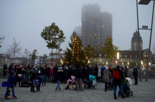 Einweihung des Weihnachtsbaums auf dem Alten Messplatz 2015 (Archivbild) | Foto: Neckarstadtblog