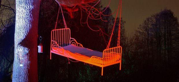 Ein strahlender Schlafplatz in schwindelnder Höhe | Foto: Stadtpark Mannheim gGmbH