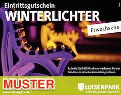 Muster Winterlichter Eintrittsgutschein | Bild: Stadtpark Mannheim gGmbH
