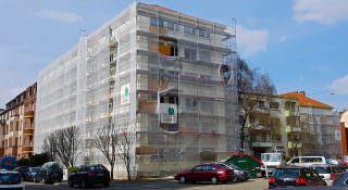 Die 48 Wohnugen von Spar+Bau in der Neckarstadt-Ost: Modernisierungs- und Instandhaltungsmaßnahmen in 48 Wohnungen sollen zu Mieterhöhungen von 2,50 €/qm führen | Foto: Schuster