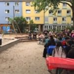 Festliche Spielplatzeinweihung in der Ackerstraße