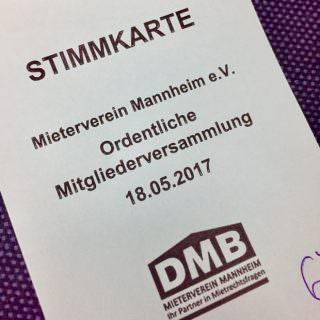 Eine solche Stimmkarte bekam jedes Mitglied beim Eintritt ausgehändigt | Foto: privat