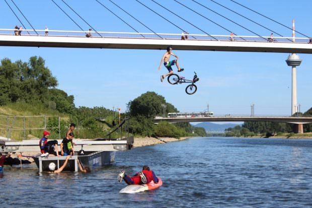 Was liegt in Mannheim näher als das Thema Fahrrad mit dem Neckar zu verbinden? | Foto: Stadt Mannheim