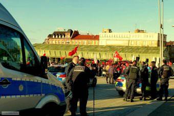 Die Polizei zeigte starke Präsenz | Foto: Christian Ratz
