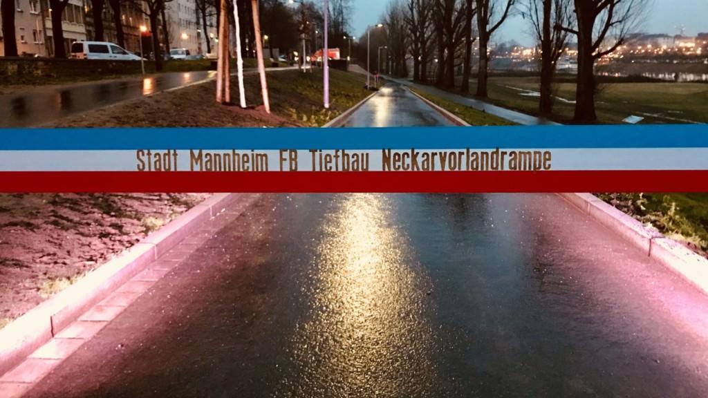 Dieses Band war die letzte Barriere, die Dammstraße und Neckarufer noch trennte   Foto: Stadt Mannheim