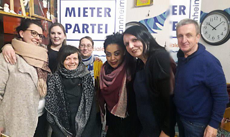 Der erste Vorstand der Mieterpartei Mannheim | Bild: Mieterpartei Mannheim (Montage Neckarstadtblog)