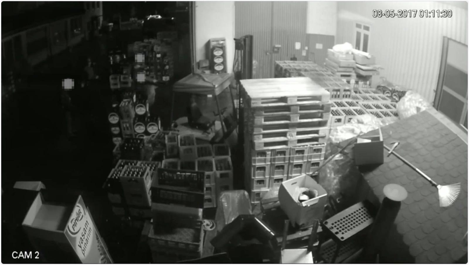 Screenshot aus dem Video der Überwachungskamera