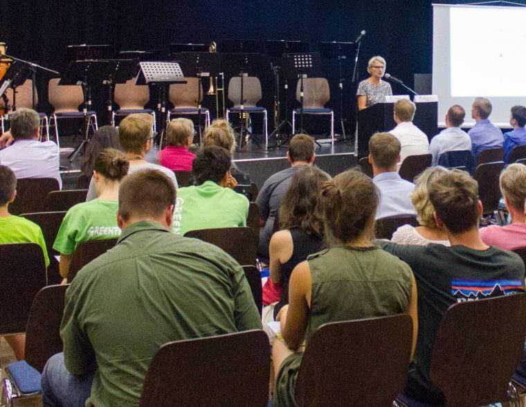 Bildungsbürgermeisterin Dr. Ulrike Freundlieb im Jugendkulturzentrum forum | Foto: Stadt Mannheim