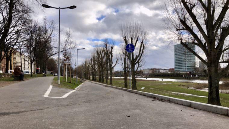 Die Neckarvorlandrampe verbindet die Dammstraße mit dem tiefer liegenden Neckarufer (Archivbild) | Foto: M. Schülke