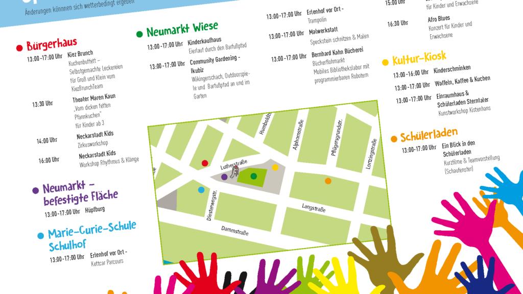 Familienfest 2018 Programmflyer | Bild: Quartiermanagement Neckarstadt-West