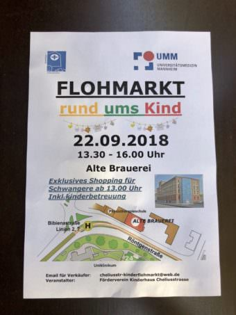 Flyer Kinderflohmarkt September 2018