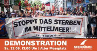 """Die Initiative """"Seebrücke Mannheim"""" ruft zur Demo auf   Quelle: Facebook"""