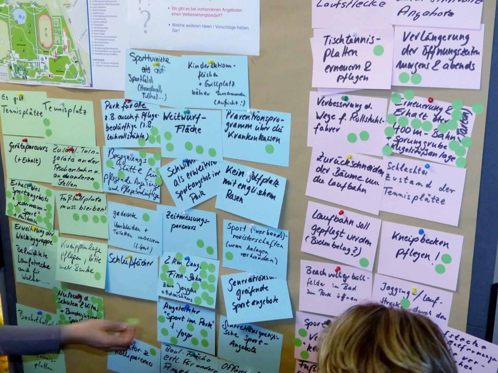 Nach der Vorschlags- und Diskussionsphase, sollten die Ideen mit Punkten bewertet werden | Foto: Hans-Jürg Liebert