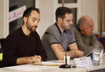 v.l. Dennis Ulas (Linke), Tom Sauer (FDP), Hans Heiser (Freie Wähler ML) | Foto: CKI