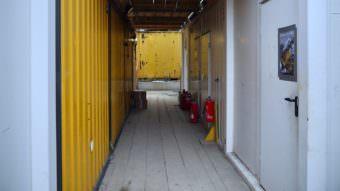 Mehrere Bürocontainer auf dem Gelände der GBG-Baustelle wurden gewaltsam geöffnet | Foto: M. Schülke