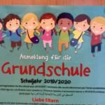 Grundschulanmeldetermine für das Schuljahr 2019/20