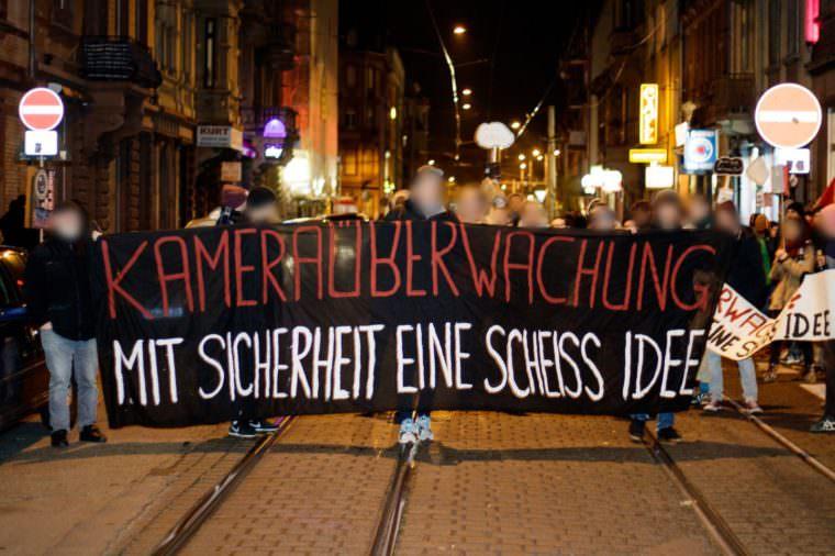 Protest gegen die Videoüberwachung   Foto: CKI