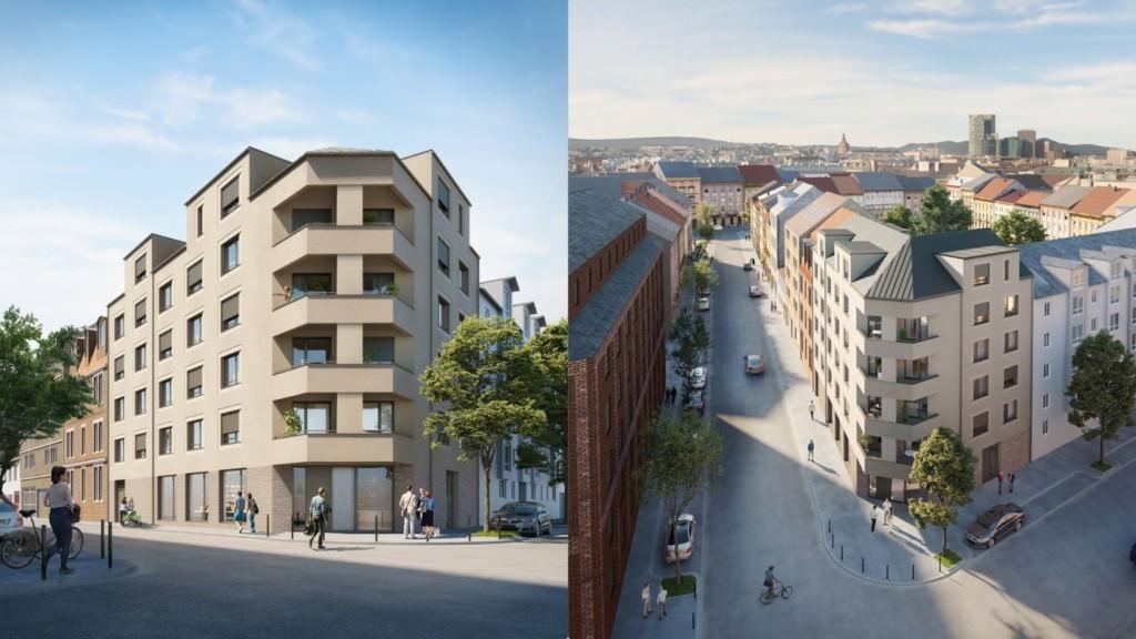 Dieses Rendering zeigt, wie die GBG die Hafenstraße 66 plant | Bild: GBG Mannheim