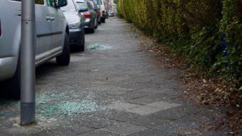 Allein in der Kinzigstraße waren fünf Fahrzeuge betroffen | Foto: M. Schülke