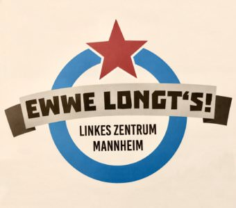 Das Logo auf dem Einladungsflyer des linken Zentrums in der Neckarstadt-Ost | Foto: Neckarstadtblog
