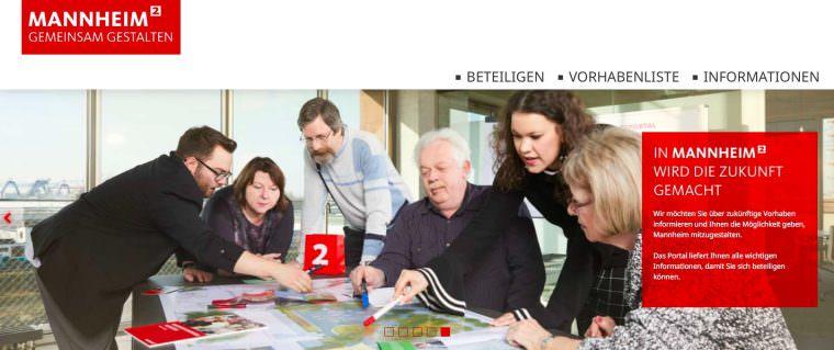 Screenshot: mannheim-gemeinsam-gestalten.de
