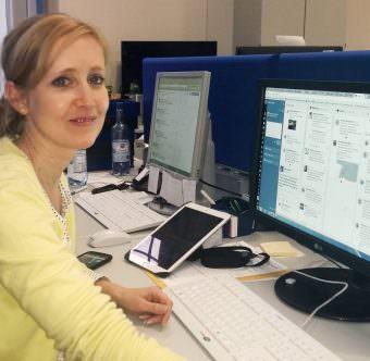 Anne Baas an ihrem Arbeitsplatz | Foto: PP Mannheim