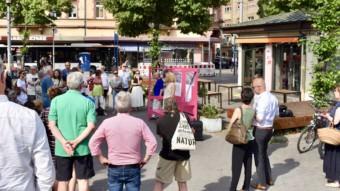 Das Team der Lokalen Stadterneuerung (LOS) informierte am Montag, 24.06.2019 bei einer Anwohnerveranstaltung vor Ort | Foto: MWSP