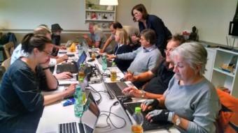 Blog-Workshop für Journalist*innen im Bürgercafé Wohlgelegen | Foto: Sabine Hebbelmann