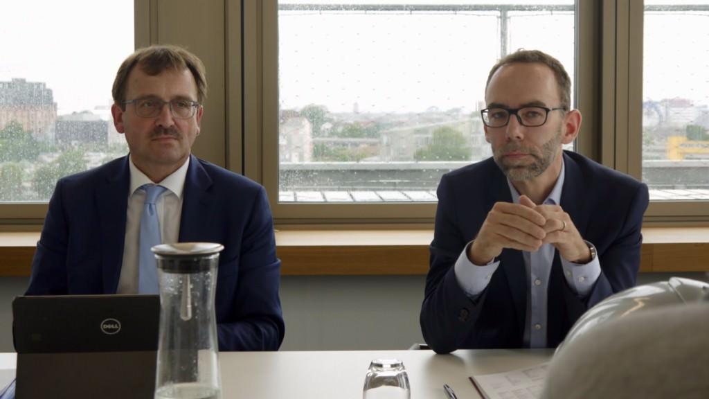GBG-Geschäftsführer Karl-Heinz Frings (links) und Pressesprecher Heiko Brohm stellten im Marchivum den Geschäftsbericht des Vorjahres vor | Foto: M. Schülke