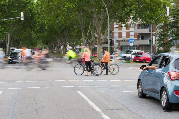Verkehrssicherung während der Radparade | Foto: CKI
