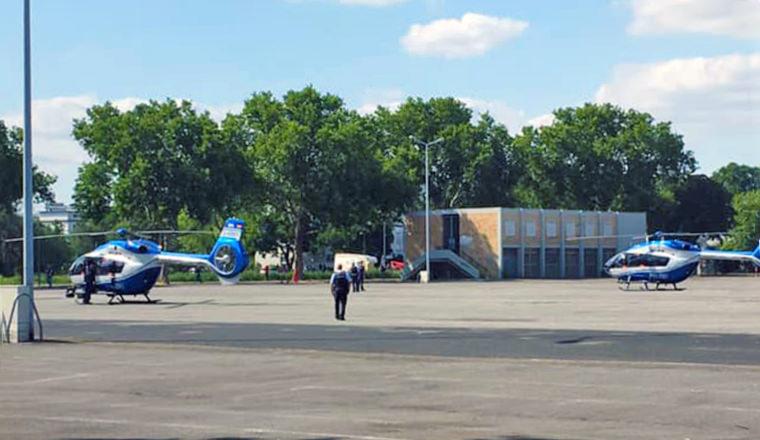 Zwei der drei Helikopter auf dem Neuen Messplatz | Foto: privat
