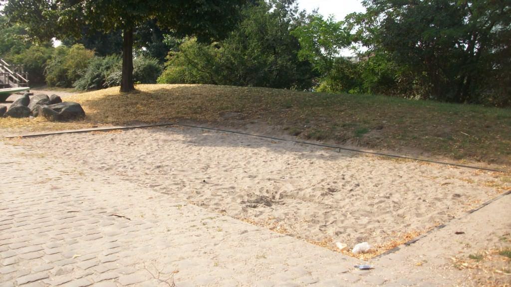 Leergefegt: Der Spielplatz an der Dammstraße | Foto: privat