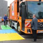 Feldversuch mit Abbiegeassistenten bei der Abfallwirtschaft Mannheim