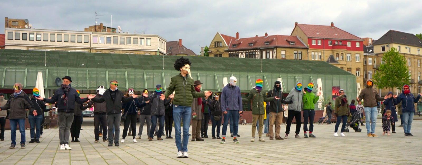 Kreative Aktion der George Orwell Ultras im Frühjahr 2019 auf dem Alten Messplatz | Foto: George Orwell Ultras