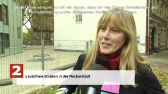 Christin Fuchs wünscht sich drei autofreie Straßen in der Neckarstadt | Screenshot: Stadt Mannheim