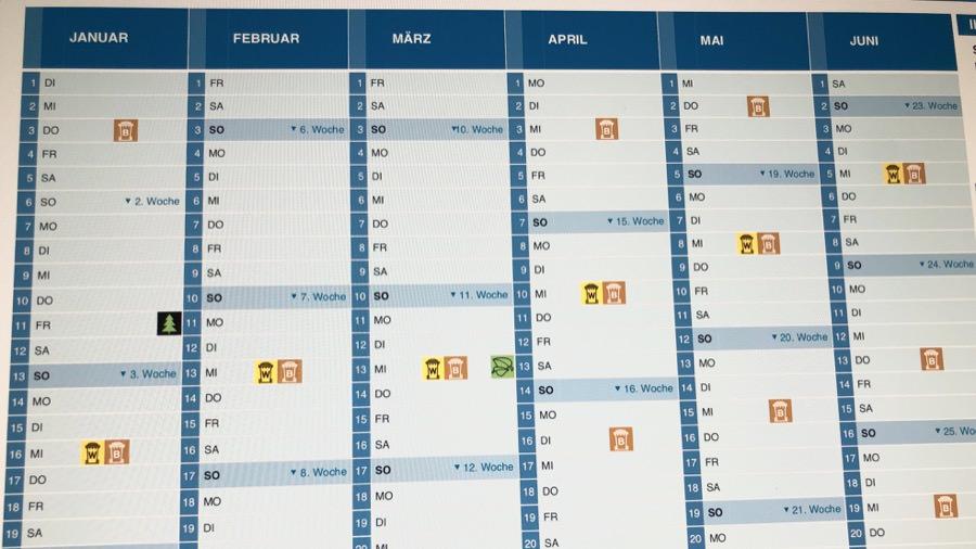 abfallkalender 2020 wiesbaden