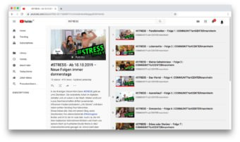 "Die ""#stress""-Playlist bei YouTube 