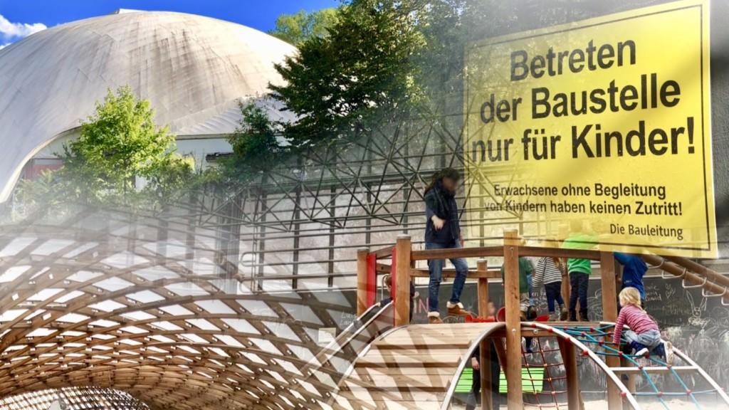 Ein Indoor-Spielplatz wie im Luisenpark wäre eine Nutzungsmöglichkeit, die Familien anspräche | Bildmontage: Neckarstadtblog