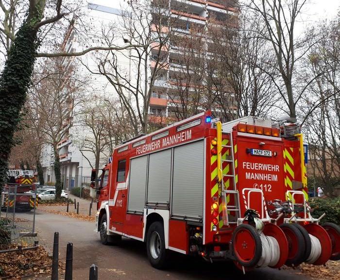 Im Brunnengarten brannte es in einem 14-stöckigen Hochhaus | Foto: Stadt Mannheim