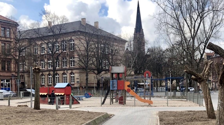 Der Spielplatz am Neumarkt (Archivbild, Februar 2019) | Foto: M. Schülke