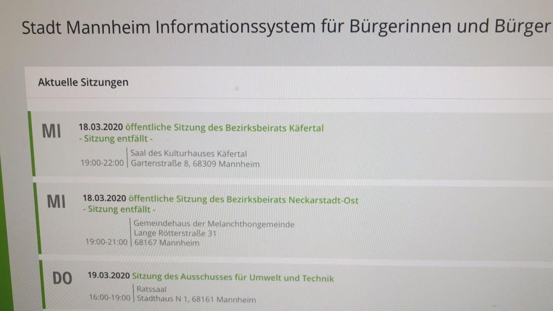 Abgesagte Sitzungen im Bürgerinformationssystem | Foto: M. Schülke