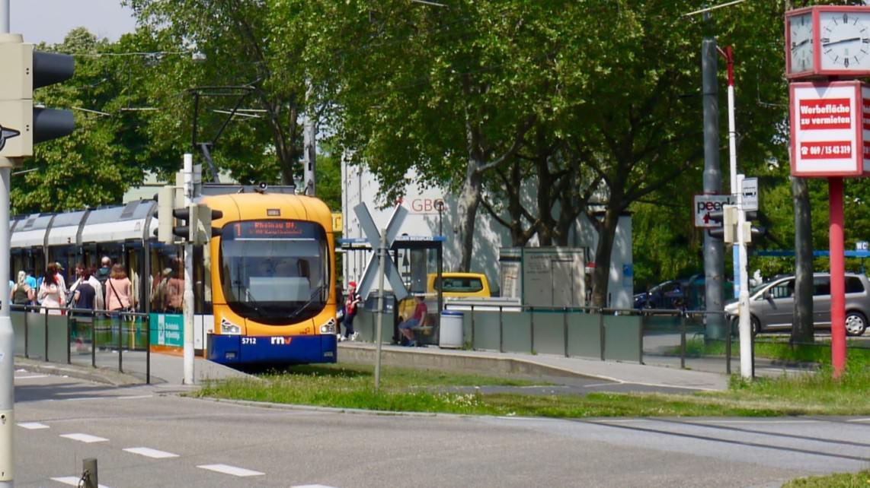 Eine Straßenbahn an einer Haltestelle in der Neckarstadt (Symbolbild) | Foto: M Schülke