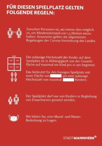 Regeln für die Spielplatznutzung in Mannheim | Quelle: Stadt Mannheim