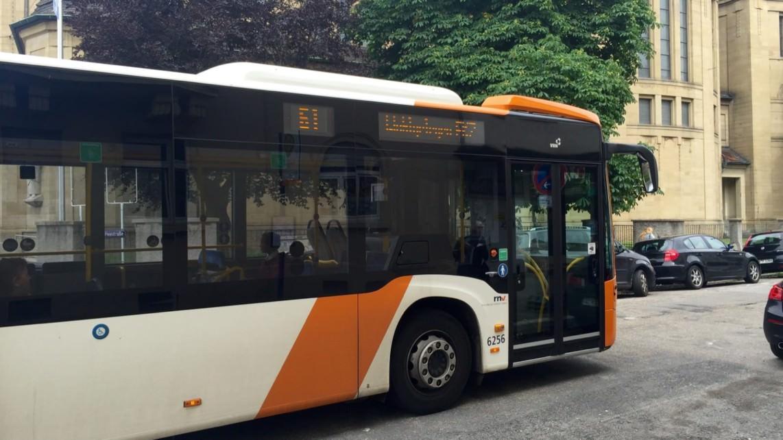 Die Buslinie 61 in der Soironstraße (Archivbild) | Foto: M. Schülke